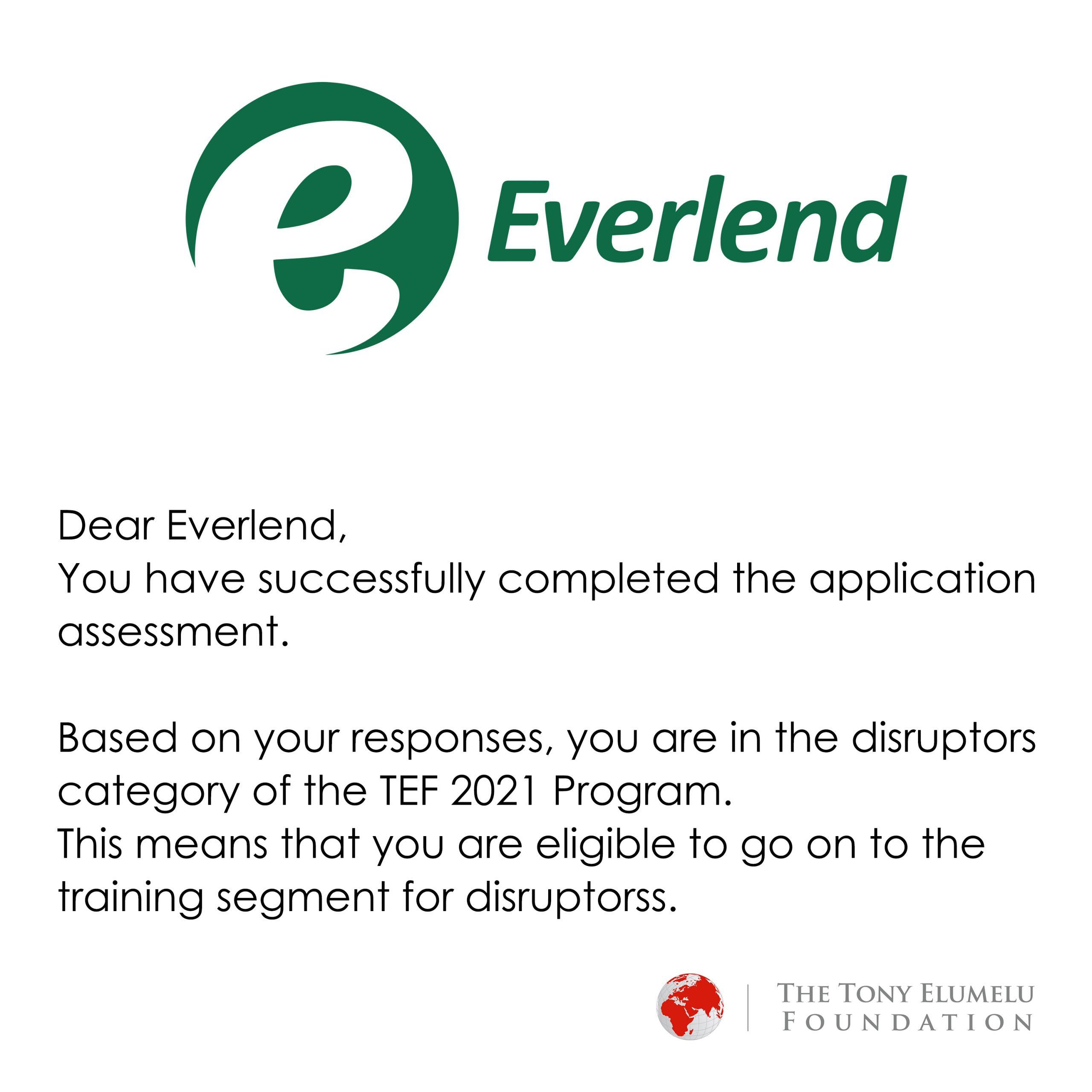 Congratulations Everlend